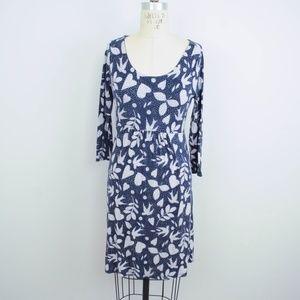 Boden Jersey Knit Dress Dove Heart Print